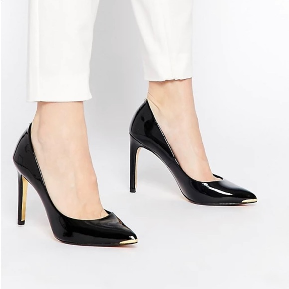 Ted Baker London Shoes - TED BAKER LONDON Neevo Black Pointed Toe Pump
